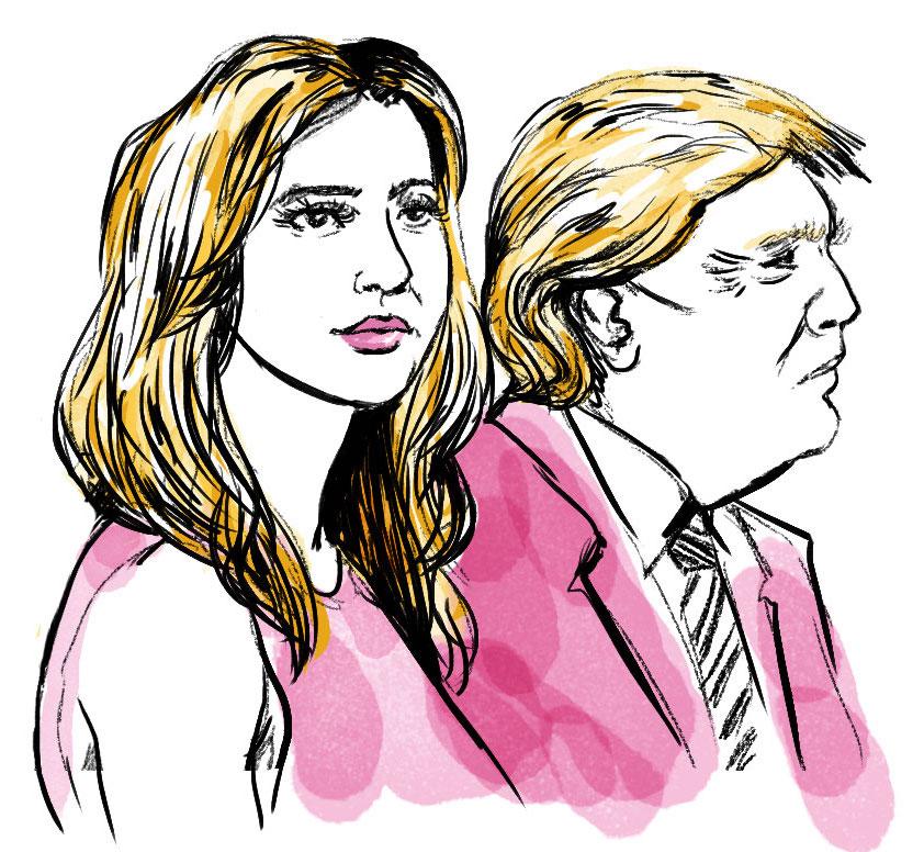 Trump and Ivanka illustration