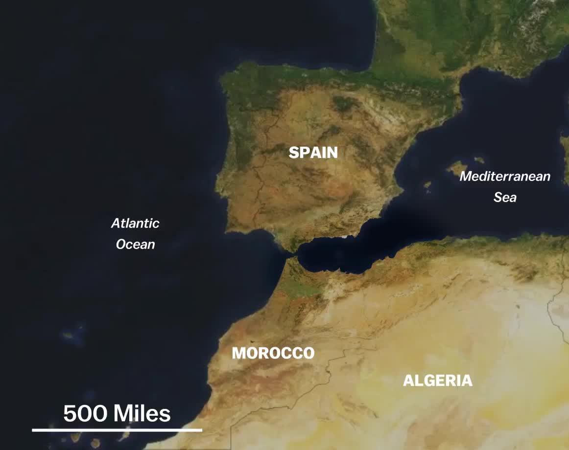 Map Of Spain Morocco.Spain Morocco Borders